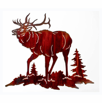 North Woods Elk Wall Art