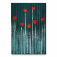 Poppy Punctuation Flower Wall Art