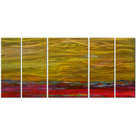 Purist Gold Abstract Artwork
