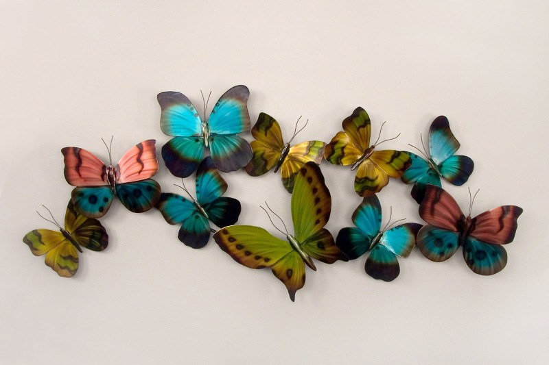 Rainbow Wings Butterfly Metal Wall Decor. Zoom. Click To Enlarge ...