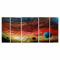 Red Sky Fantasy Metal Wall Panels