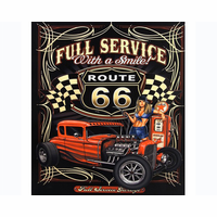 Route 66 Pinup Girl Art