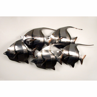 Fish Metal Wall Art tropical metal wall art