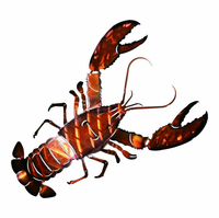 Seaside Lobster Metal Wall Art Sculpture
