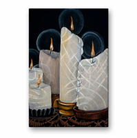Softlight Candle Wall Art