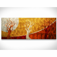 Solar Forest Metal Wall Art