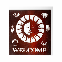Solar Welcome Metal Wall Art