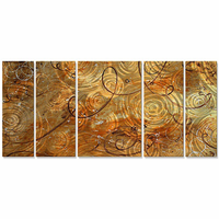 Spheres of Gold Abstract Art