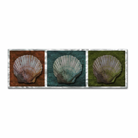 Trio of Seashells Metal Art