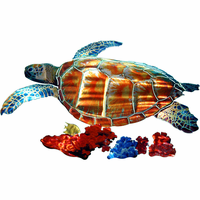 Tropical Sea Turtle Metal Wall Art Sculpture
