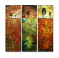 Verdant Visions Trio of Handmade Metal Wall Hangings