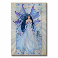 Violet Fairy Metal Wall Art