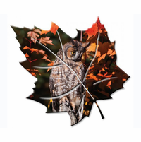 Wise Owl Leaf Wall Art