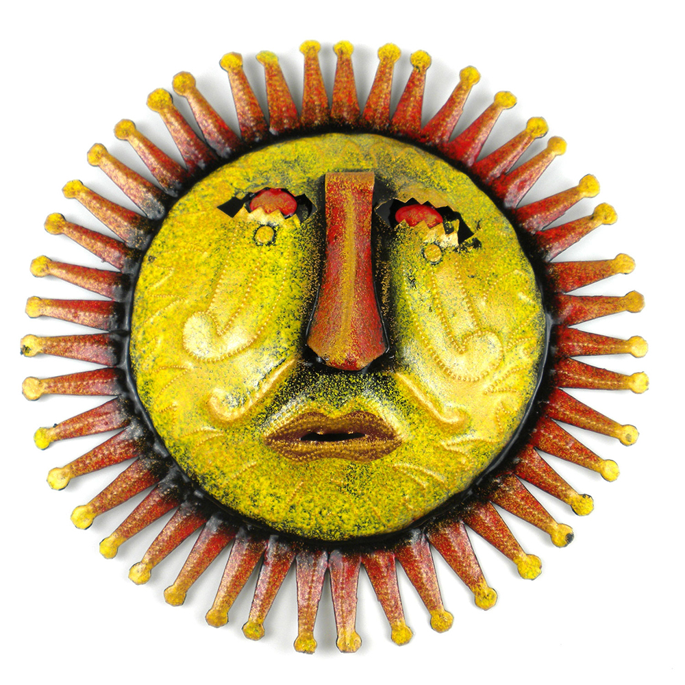 Worried Sun Handmade Metal Wall Art
