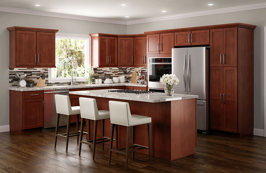 amesbury cherry kitchen cabinets - Cherry Kitchen Cabinets