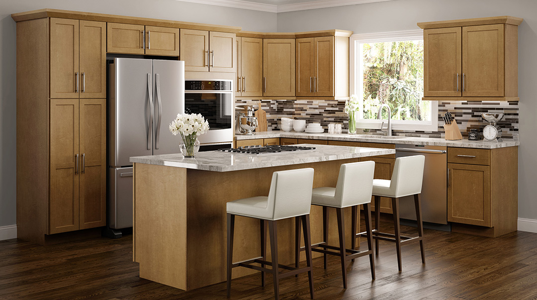 Amesbury Golden Kitchen Cabinets