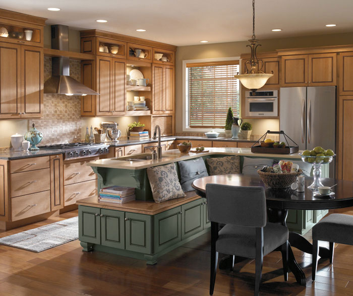 Impressive Ideas Kitchen Paint Colors With Maple Cabinets: Anden Maple Kitchen Cabinets