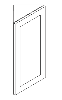 AW30: Wall Cabinet: Angled Wall Corner Cabinet: Shakertown RTA Kitchen  Cabinet