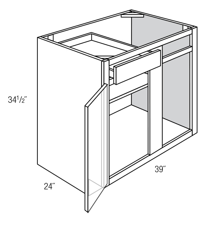 Number Of The Corner Base Cabinet In The Kitchen