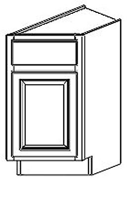 Dartmouth Grey Stain Angle Base End Cabinets