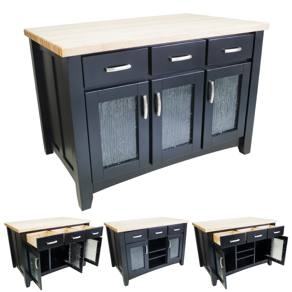 Black Modern Kitchen Island ISL07