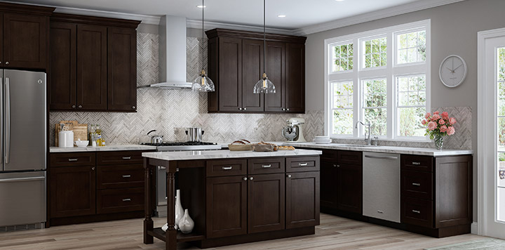 Honey Maple Kitchen Cabinets And Grey Accessories