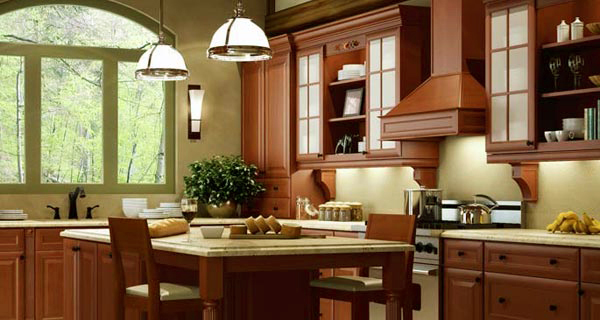 Attrayant Cinnamon Glaze Kitchen Cabinets