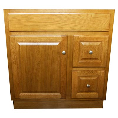 Country Oak Vanity Cabinets