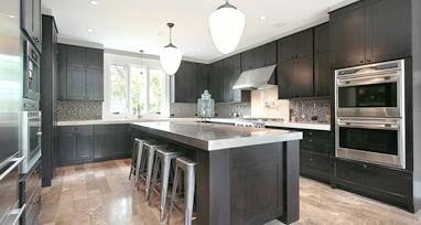 Dartmouth Gray Stain Kitchen Cabinets - Dark gray stained cabinets