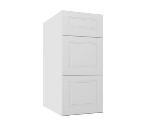 Dakota White Rta Kitchen Cabinets: DB12: Drawer Base Cabinet: Gramercy White RTA Kitchen Cabinet