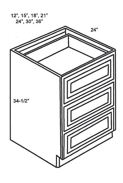 Db15 3 Base Cabinets Drawer Base Cabinet Classic White