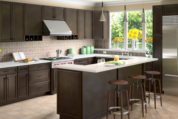 Kitchen Cabinets Espresso glaze kitchen cabinets