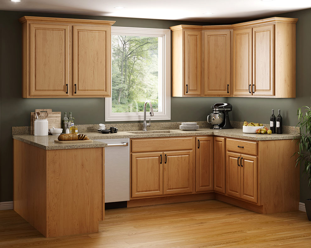 Fairfield golden kitchen cabinets
