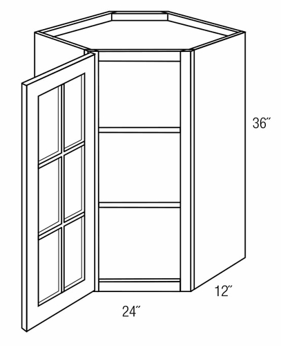 Top 5 Best Kitchen Cabinets Inserts For Sale 2017: GWDC2436: Diagonal Wall Cabinet W/ Solid Glass Pane