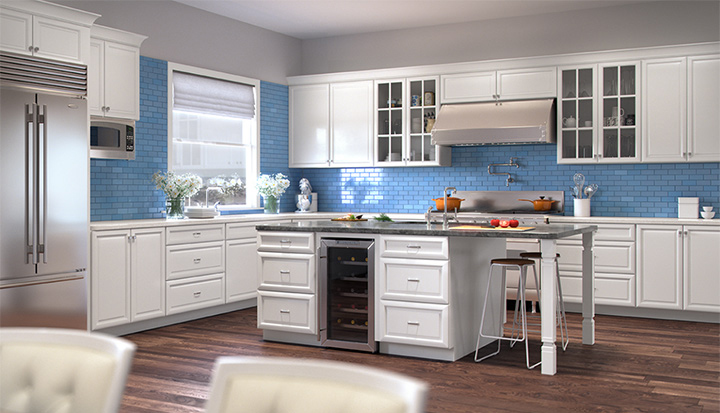 Bon K Series White Kitchen Cabinets