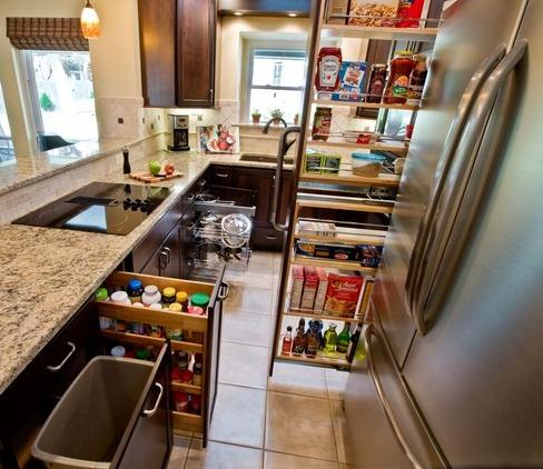 Kitchen Cabinet Pull-Outs
