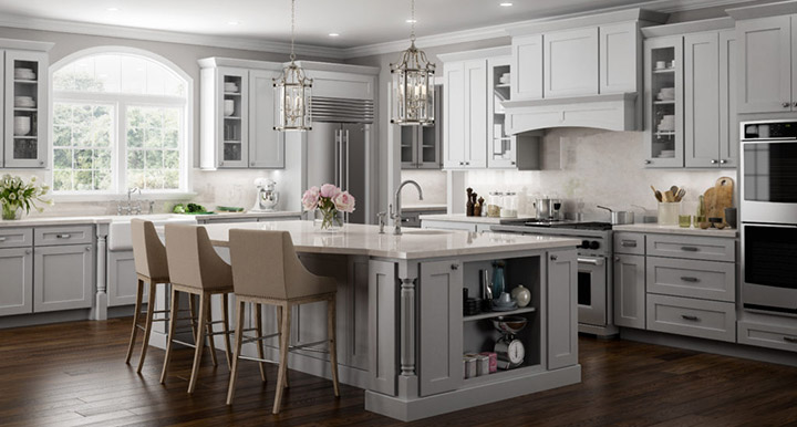 Shaker Kitchen Cabinets - Where to buy gray kitchen cabinets