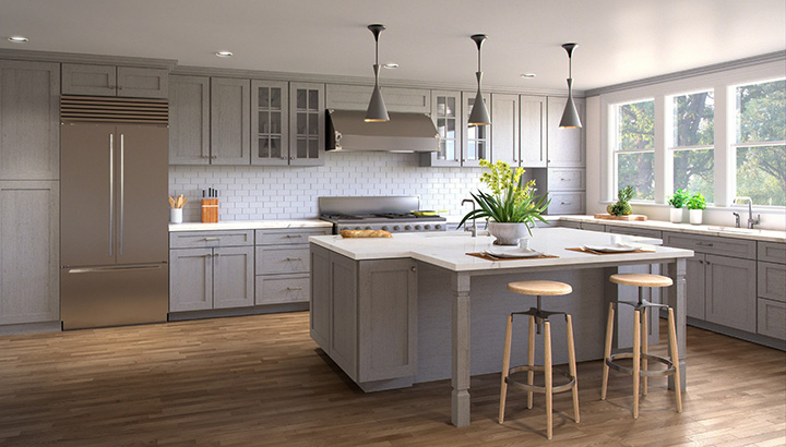 Nova Light Grey Shaker Kitchen Cabinets - Light grey shaker cabinets