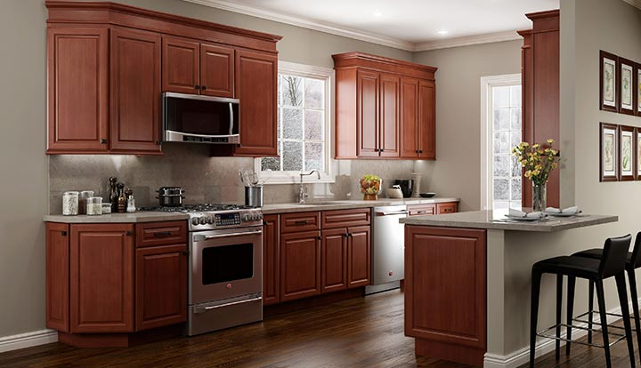 quincy cherry kitchen cabinets - Cherry Kitchen Cabinets