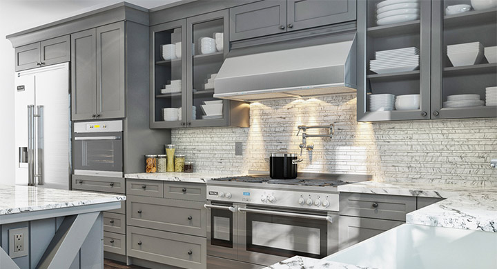 Stone Gray Kitchen Cabinet Design Ideas ~ Gray painted kitchen cabinets