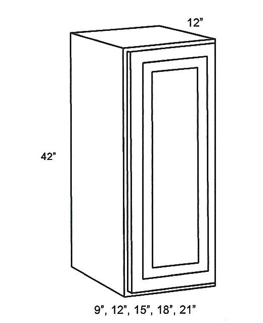 Single Kitchen Cabinet wall cabinets:single-door-wall-cabinet:classic white shaker