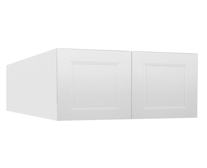 Dakota White Rta Kitchen Cabinets: W361824B: Bridge-Wall Cabinet: Uptown White RTA Kitchen