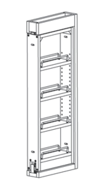 wf3pull  wall filler pull out  essex rta kitchen cabinet