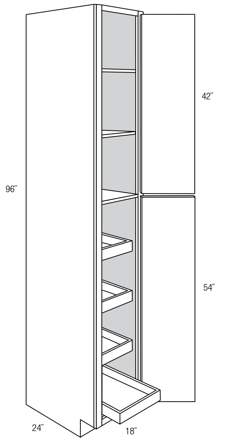 Wp1896rt Pantry Cabinet With Roll Out Shelves Wheaton