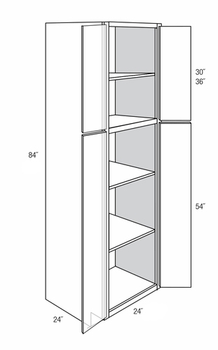 Branford Recessed 4 Door Pantry Cabinets