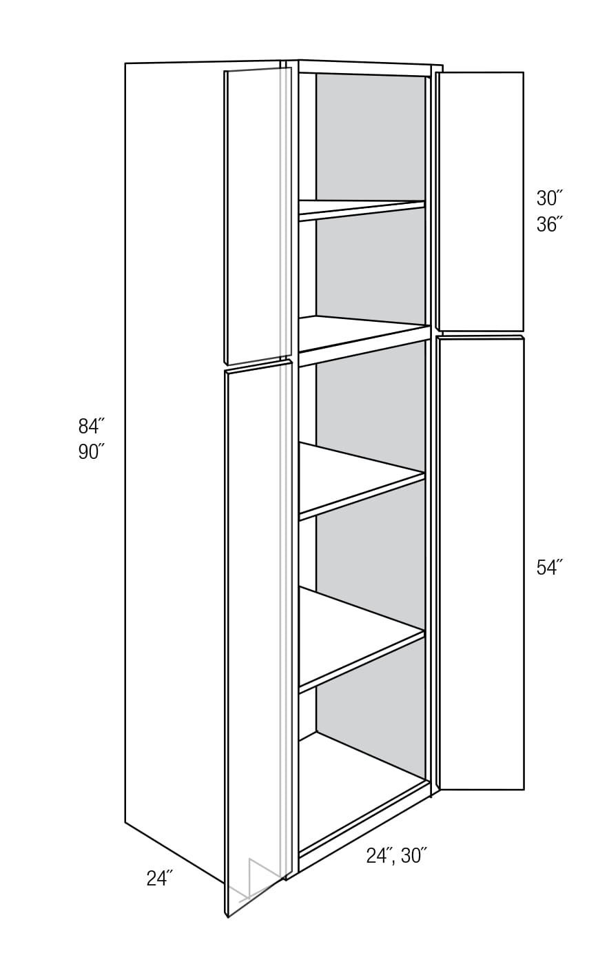 WP2484B: Tall Cabinets: Pantry Cabinet: Amesbury Cherry RTA Kitchen ...