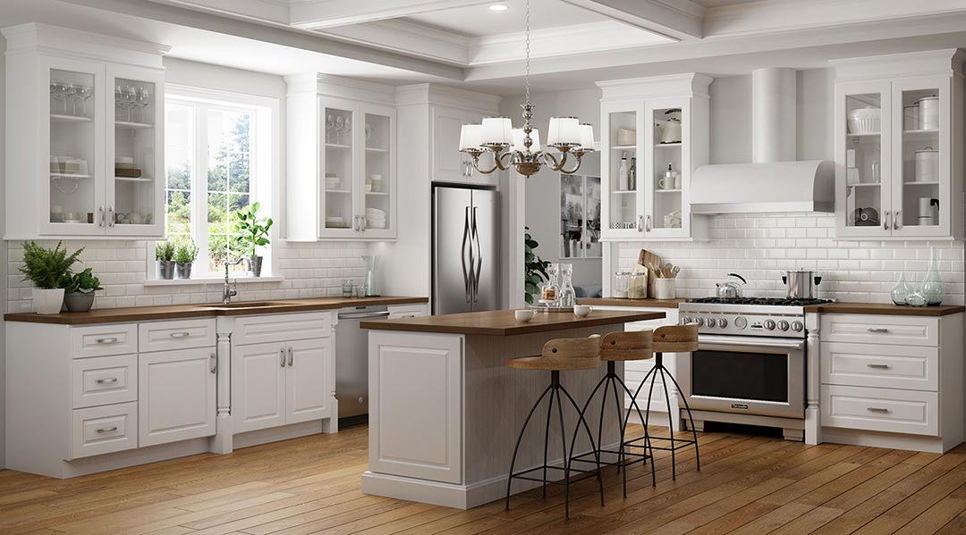 Cheap White Kitchen Cabinets Recessed Raised