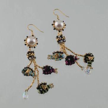 "NEW! ""Out for a Swim"" Earrings Beading Kit"