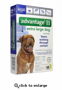12 MONTH Advantage II Flea Control for Dogs Over 55 lbs