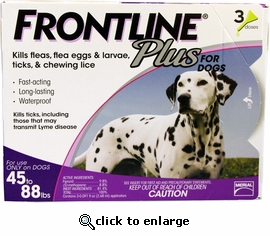 3 month Frontline Plus for Dogs 45-88 lbs
